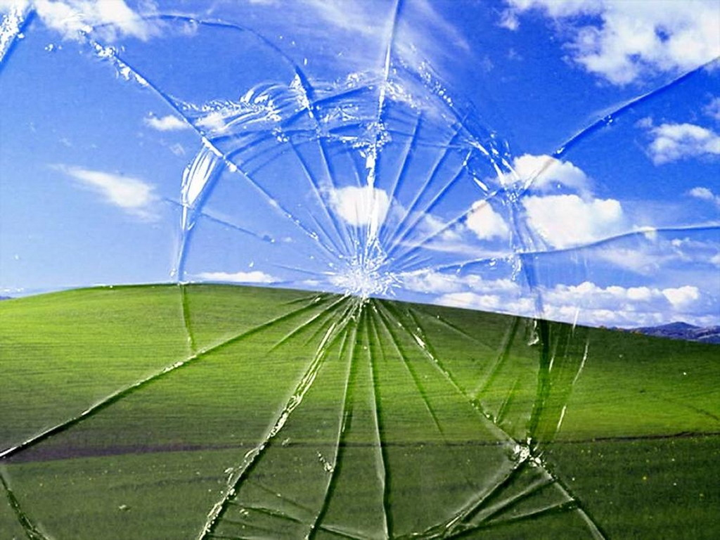 Windows Xp Broken Screen Wallpaper Really Funny Pictures