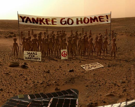 Latest Spirit Rover image from Mars