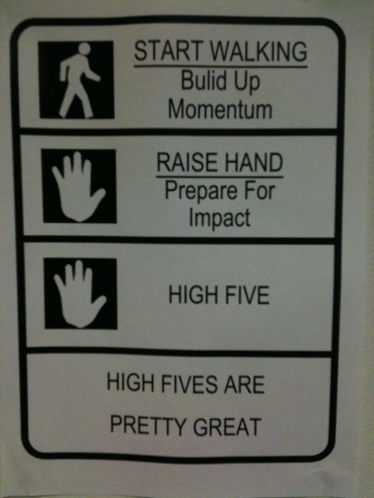 How to high-five