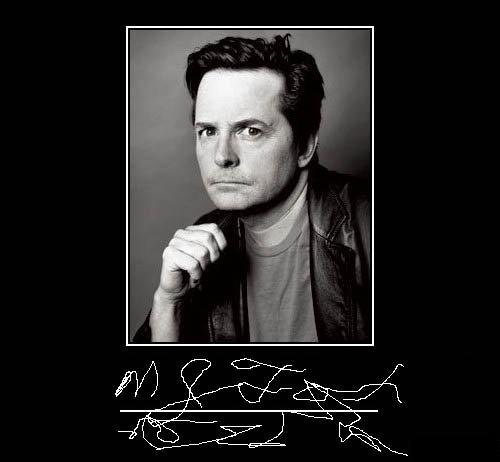 michael j fox autograph really funny pictures collection on. Black Bedroom Furniture Sets. Home Design Ideas