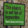 The church is not full of hypocrites