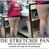 Nude stretchie pants