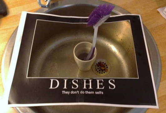 Dishes motivational poster