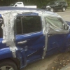 Duct taped car