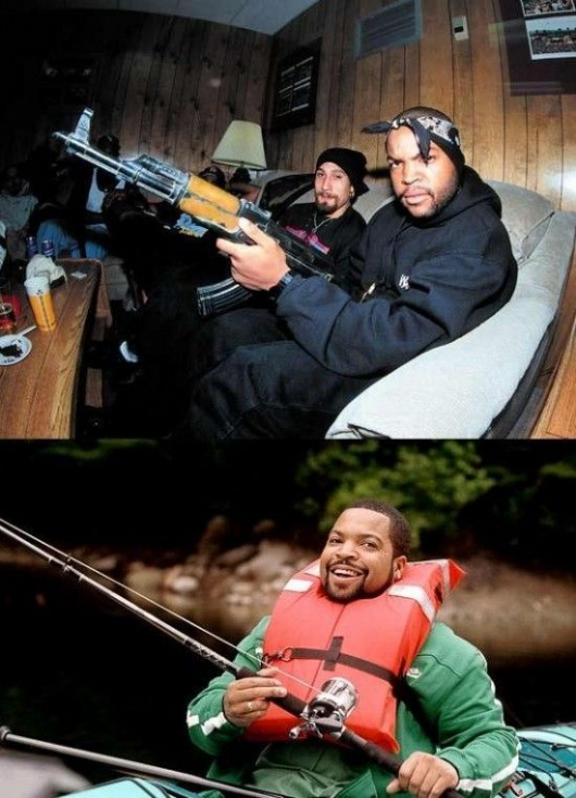 Ice Cube then and now