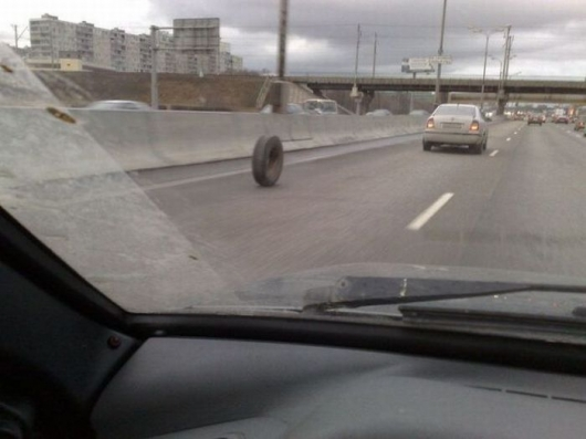 Invisible one wheel car