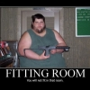 Motivational poster: Fitting room