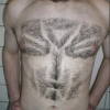 Transformers logo chest hair