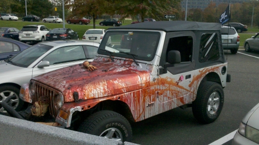 image courtesy of httpwwwpicshagcomhalloween car decorationhtml - Gory Halloween Decorations