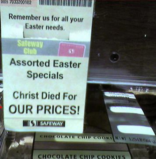 Christ died for our prices