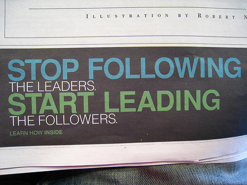Following and leading