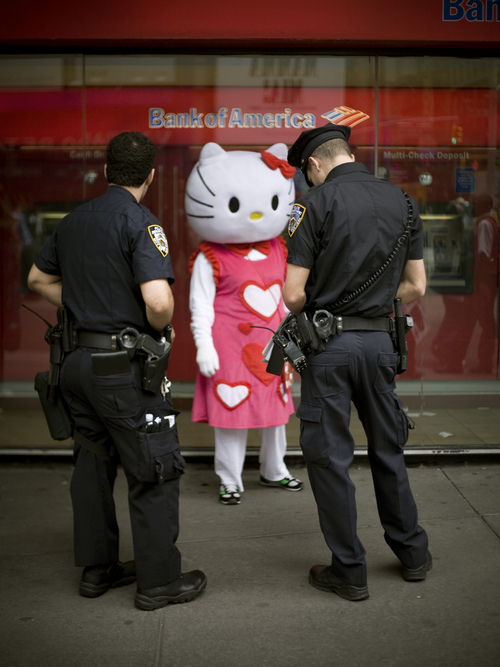 Hello Kitty getting arrested
