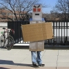 Protester robot