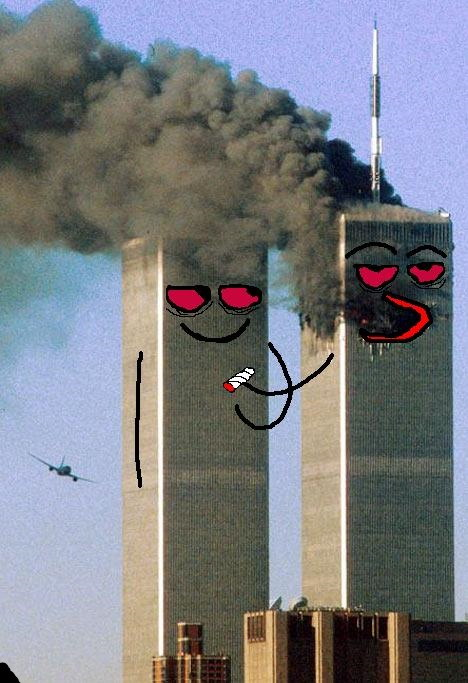 9/11 smoking a joint