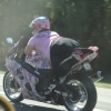 Chick on a bike