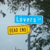 Lovers' lane is a dead end
