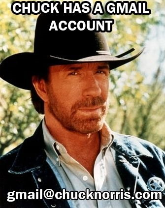 Chuck Norris' Gmail account
