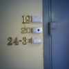 Geek apartment door number