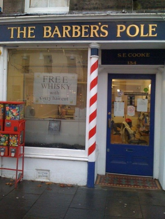 Free whisky with every haircut
