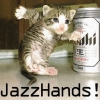 Jazz hands kitten
