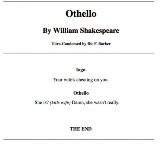 The short version of othello really funny pictures collection on