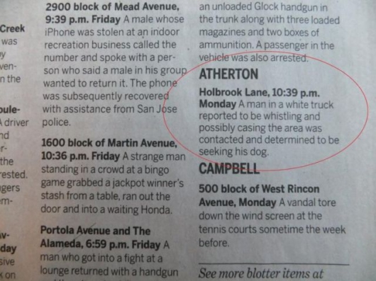 The strange things in the Atherton police blotter - Picture 13