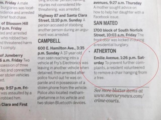 The strange things in the Atherton police blotter - Picture 8