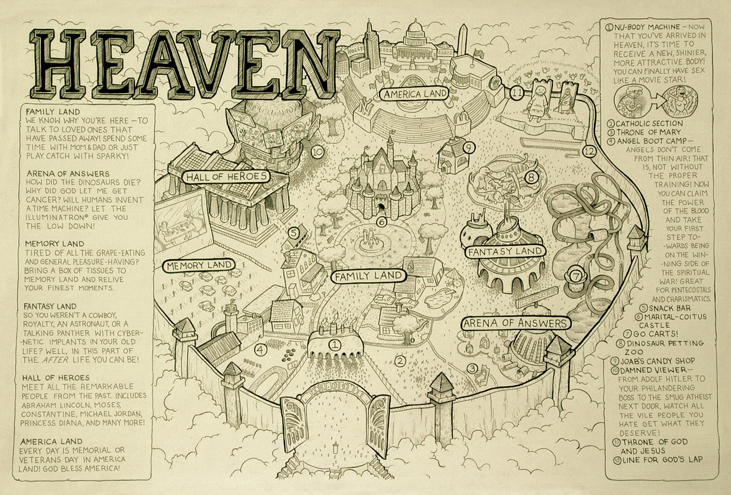 Map Of Heaven The map of Heaven   Really funny pictures collection on picshag.com
