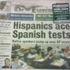 Hispanics ace Spanish tests