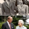 Then and now: Prince Philip and Queen Elisabeth II