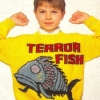 Terror fish knitted sweater