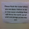Please flush