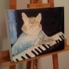 Keyboard Cat painting