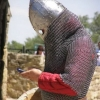 Knight with a cellphone