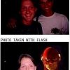 Photo take without/with flash