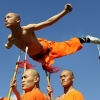 Shaolin monk on spears