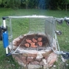 Shopping cart barbeque