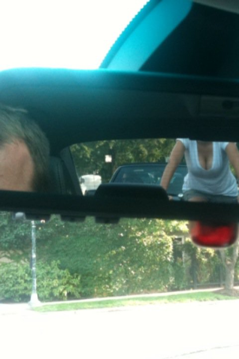 rearview mirror cleavage really funny pictures