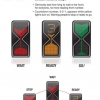 Hourglass traffic light