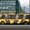 Creative zoo ad on bus