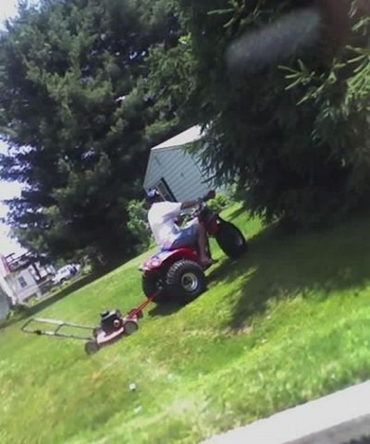 Lazy lawn mowing
