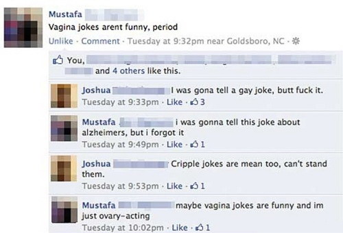 Inappropriate jokes