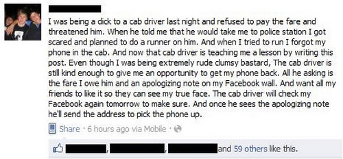 Owned by cab driver